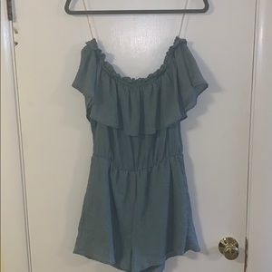 Blue/green romper